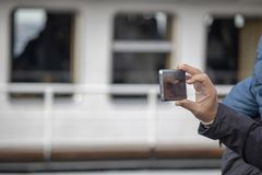 Les gens souffrant de la photographie de paysage photographie stock libre de droits