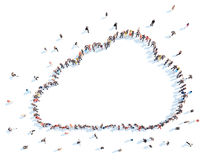 Les gens sous forme de nuages Photographie stock libre de droits