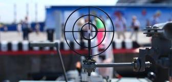 Les gens sous la menace des armes Photos libres de droits