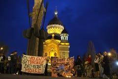 Les gens soutiennent pour la tentative de révolution Photos libres de droits