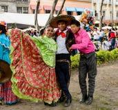 Les gens sur Dia de los Muertos au Mexique Photographie stock libre de droits