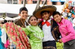 Les gens sur Dia de los Muertos au Mexique Photos libres de droits