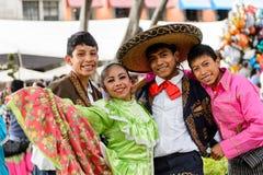 Les gens sur Dia de los Muertos au Mexique Images libres de droits