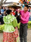 Les gens sur Dia de los Muertos au Mexique Photographie stock