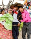 Les gens sur Dia de los Muertos au Mexique Photo stock