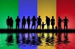 Les gens sur l'eau Image libre de droits
