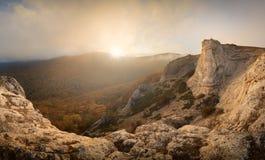 Les gens sur la montagne Image stock