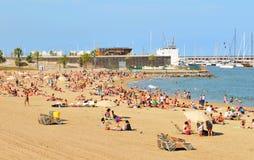Les gens sur la plage Images libres de droits