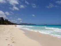 Les gens sur la plage de Waimanalo Images stock