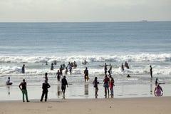Les gens sur la plage, Durban Photos libres de droits