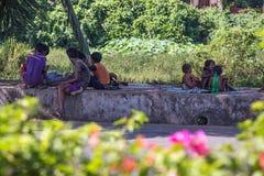 Les gens sur la route, Goa Image libre de droits