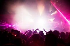 Les gens sur le concert de musique, disco Image stock