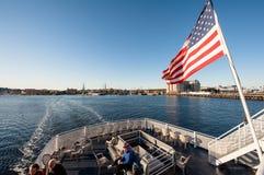 Les gens sur le ferry à Boston Photos libres de droits