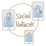 Les gens sur le réseau social Images stock