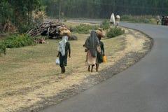 Les gens sur les rues de l'Ethiopie Photos stock