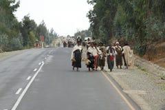 Les gens sur les rues de l'Ethiopie Photos libres de droits