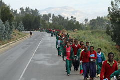 Les gens sur les rues de l'Ethiopie Images stock