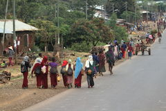 Les gens sur les rues de l'Ethiopie Photographie stock
