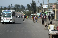 Les gens sur les rues de l'Ethiopie Photographie stock libre de droits