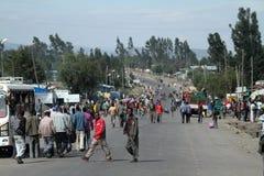 Les gens sur les rues de l'Ethiopie Photo libre de droits