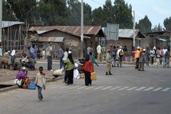 Les gens sur les rues de l'Ethiopie Images libres de droits