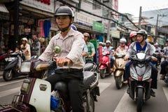 Les gens sur les rues du Vietnam Photographie stock