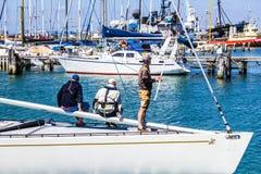 Les gens sur un bateau Photo libre de droits