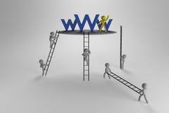 Les gens sur WWW illustration de vecteur
