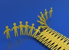 Les gens teamworking comme une tirette Images stock