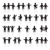 Les gens tenant des mains Groupe de personnes barre Image libre de droits