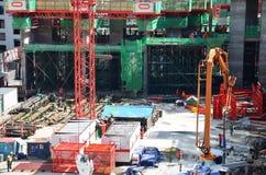 Les gens travaillant au chantier de construction à Bangkok Thaïlande Photos stock