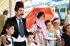 Les gens turcs saluent les voyageurs Photographie stock libre de droits