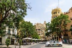 Les gens Valencia City In Spain du centre de marche Image stock