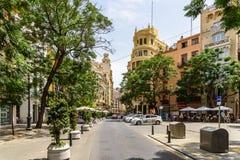 Les gens Valencia City In Spain du centre de marche Photographie stock libre de droits