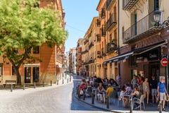 Les gens Valencia City In Spain du centre de marche Photo stock