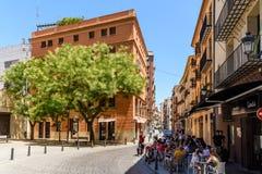 Les gens Valencia City In Spain du centre de marche Images stock