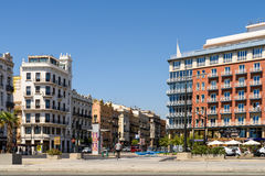 Les gens Valencia City In Spain du centre de marche Photographie stock