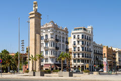 Les gens Valencia City In Spain du centre de marche Photos stock