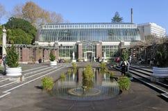 Les gens visitent à Auckland Wintergardens Images libres de droits