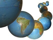 Les globes Illustration Stock