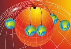les globes ont suspendu le monde Images stock
