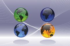 Les globes représentent Photos libres de droits