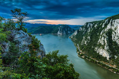 Les gorges de Danube photo stock