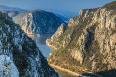 Les gorges de Danube photo libre de droits