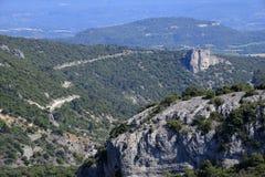 Les Gorges de la Nesque. Scenic landscape of Les Gorges de la Nesque in Vaucluse, Provence, France Stock Images