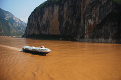 Les gorges du Yang Tsé Kiang Images libres de droits