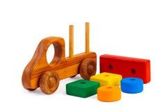 les gosses jouent en bois photographie stock
