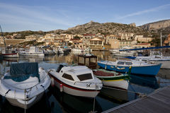 Les Goudes harbor Royalty Free Stock Photo