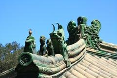 Les gouttières des bâtiments antiques chinois Photographie stock