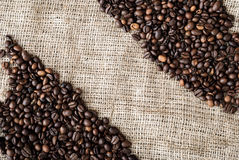 Les graines de café Photographie stock
